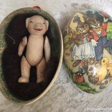 Muñecas Porcelana: MUÑECO ALEMÁN LIMBACH ARTICULADO EN HUEVO. Lote 254926810