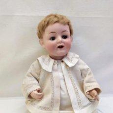 Bambole Porcellana: MUÑECA FRANZ SCHMIDT. CABEZA DE PORCELANA, SE MUEVEN LOS OJOS Y LA LENGUA. F.S & CO. 50CM. Lote 259240400