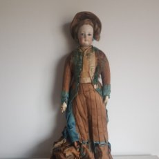 Bambole Porcellana: ANTIGUA MUÑECA PORCELANA OJOS DE CRISTAL GRAN ESTADO Y ORIGINAM 45 CM. Lote 259874830