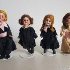 Bambole Porcellana: ANTIGUA MUÑECA PORCELANA OJOS DE CRISTAL LOTE DE 4 COLEGIALA COLEGIALAS ORIGINALES Y GRAN ESTADO. Lote 260352930