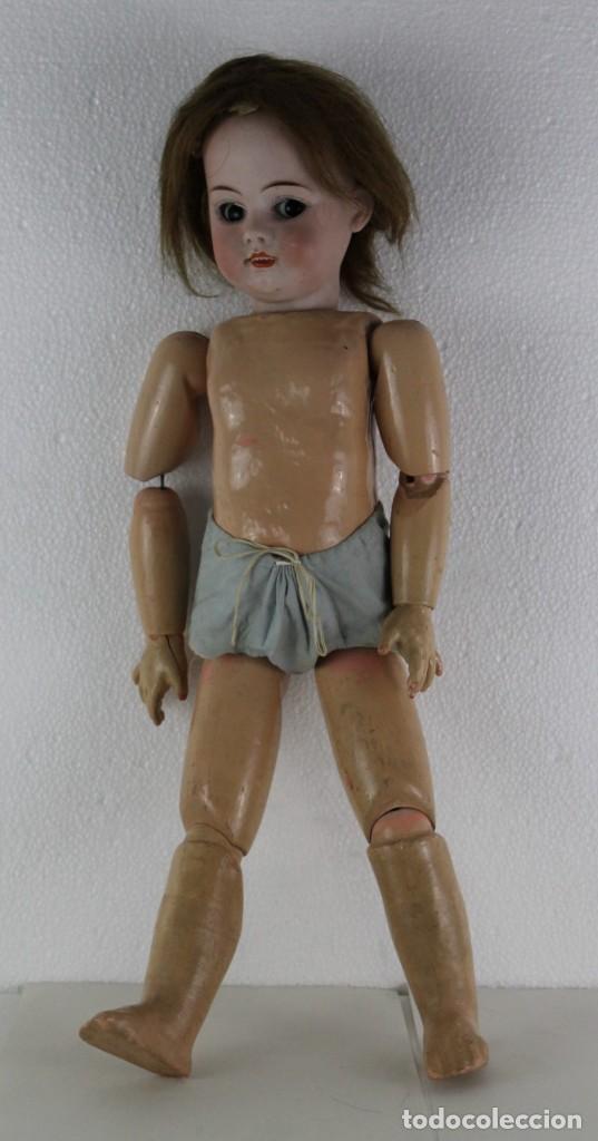 Muñecas Porcelana: Muñeca con cara de porcelana biscuit y cuerpo de composición de principios del siglo XX - Foto 2 - 262246355