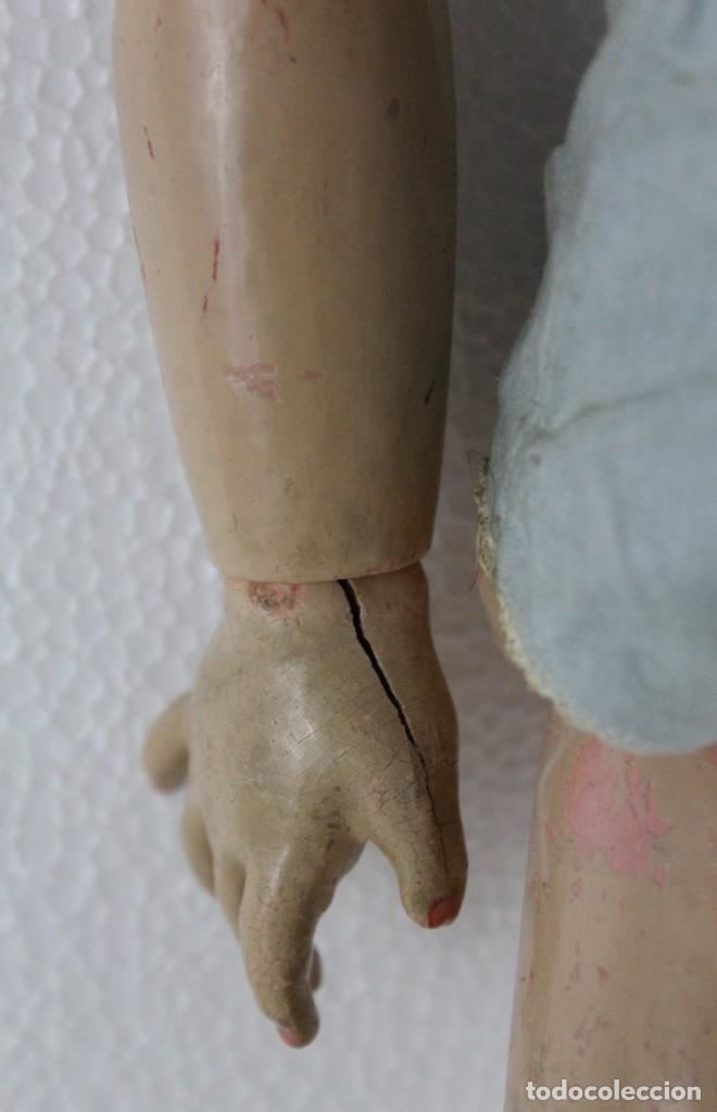 Muñecas Porcelana: Muñeca con cara de porcelana biscuit y cuerpo de composición de principios del siglo XX - Foto 5 - 262246355