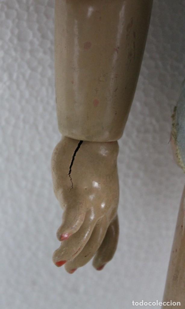 Muñecas Porcelana: Muñeca con cara de porcelana biscuit y cuerpo de composición de principios del siglo XX - Foto 6 - 262246355