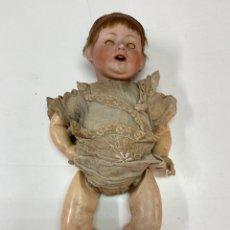 Bonecas Porcelana: MUÑECO PORCELANA FRANZ SCHMIDT 1272/50 MECANISMO APERTURA OJOS Y LENGUA, ALEMANIA, PP S. XX. Lote 275279858