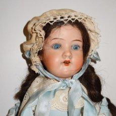Muñecas Porcelana: (M) MUÑECA DE PORCELANA CON VESTIDO ORIGINAL ARMAND MARSEILLE GERMANY 390, 40CM, VER FOTOGRAFIAS. Lote 278760043