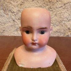 Muñecas Porcelana: BUSTO DE MUÑECA DE PORCELANA ALEMANA MARCADA DARLING 5. Lote 280511098