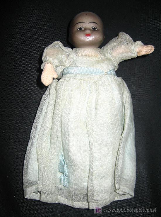 Muñecas Porcelana: ANTIGUA PAREJA DE BEBES DE CABEZA DE BISCUIT Y CUERPO DE LIENZO RELLENO - PRINCIPIOS DE SIGLO - OJO - Foto 2 - 26455380