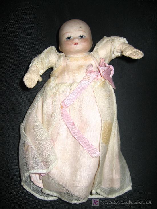 Muñecas Porcelana: ANTIGUA PAREJA DE BEBES DE CABEZA DE BISCUIT Y CUERPO DE LIENZO RELLENO - PRINCIPIOS DE SIGLO - OJO - Foto 3 - 26455380