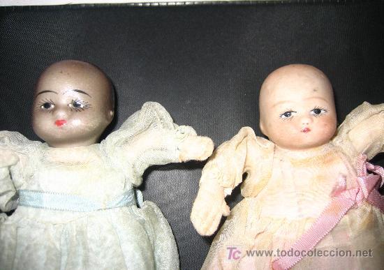Muñecas Porcelana: ANTIGUA PAREJA DE BEBES DE CABEZA DE BISCUIT Y CUERPO DE LIENZO RELLENO - PRINCIPIOS DE SIGLO - OJO - Foto 4 - 26455380
