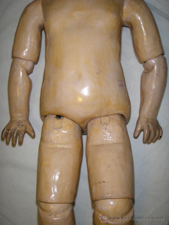 Muñecas Porcelana: ANTIGUA MUÑECA JUMEAU CON CUERPO STEINER. BOCA CERRADA. 45 CM - Foto 3 - 30970373