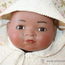 Muñecas Porcelana: MUÑECO BEBE DE PORCELANA ARMAND MARSELLE NEGRO NEGRITO. Lote 35796385