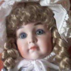 Muñecas Porcelana: MUÑECA ARTICULADA DE PORCELANA CARTÓN Y MADERA , REPRODUCCION SIMILAR A BRU JUMEAU. Lote 97177658