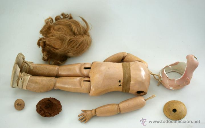 Muñecas Porcelana: CUERPO DE MUÑECA DEP JUMEAU COMPLETO CON VESTIDOS ORIGINALES - Foto 2 - 42615812