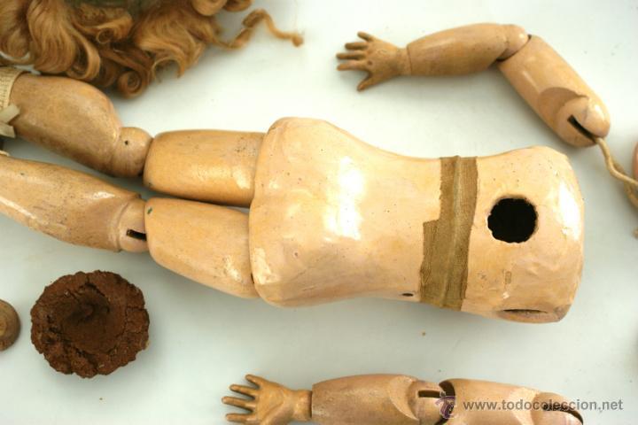 Muñecas Porcelana: CUERPO DE MUÑECA DEP JUMEAU COMPLETO CON VESTIDOS ORIGINALES - Foto 10 - 42615812