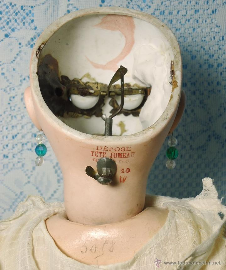 JUMEAU. BOCA CERRADA.RESORTE PARA CERRAR OJOS EN NUCA. SIN DEFECTO.PERFECTA.1885 (Juguetes - Muñeca Extranjera Antigua - Porcelana Francesa)