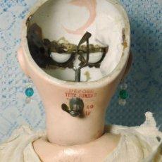 Muñecas Porcelana: JUMEAU. BOCA CERRADA.RESORTE PARA CERRAR OJOS EN NUCA. SIN DEFECTO.PERFECTA.1885. Lote 44102429