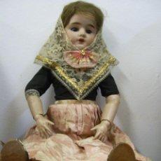 Muñecas Porcelana: MUÑECA DE PORCELANA. VESTIDA DE MALLORQUINA. SIGLO XIX. . Lote 47300290