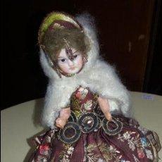 Muñecas Porcelana: MUÑECA CON CARA DE PORCELANA Y BRAZOS DE BARRO 20 CM. ALTURA. Lote 48306851