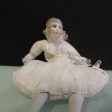 Muñecas Porcelana: MUÑECA DE PORCELANA Y TELA, FLAPPER O COCOTTE, FRANCESA. Lote 53081241