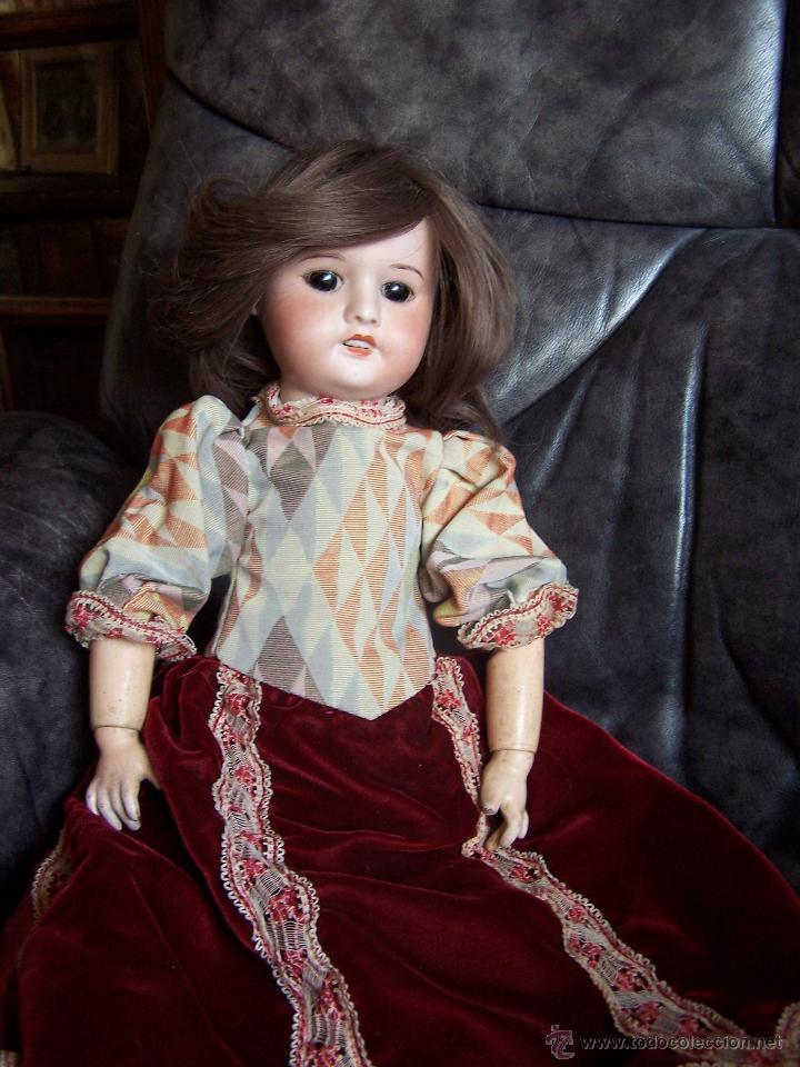 Muñecas Porcelana: Muñeca francesa SFBJ, Co de la casa jumeau París. 1910. Altura: 43 cm. - Foto 6 - 54572699