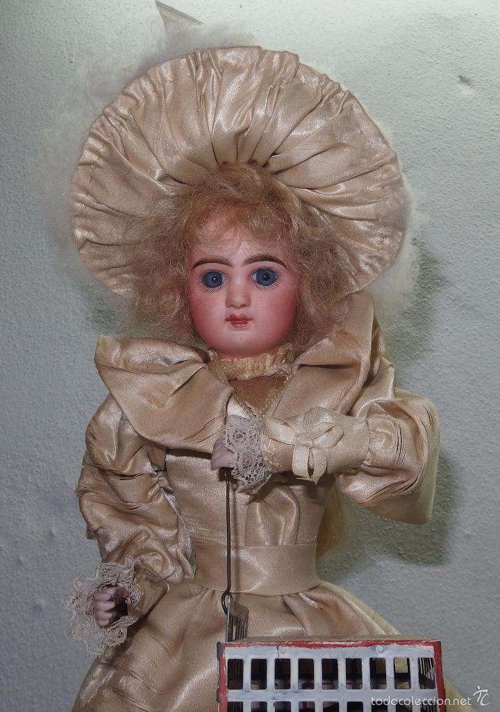 Muñecas Porcelana: AUTÓMATA DE L.MARIE RENOU,CABEZA BEBE MASCOTTE,FRANCE,FUNCIONANDO,FABRICADO EN 1890 - Foto 3 - 61099767