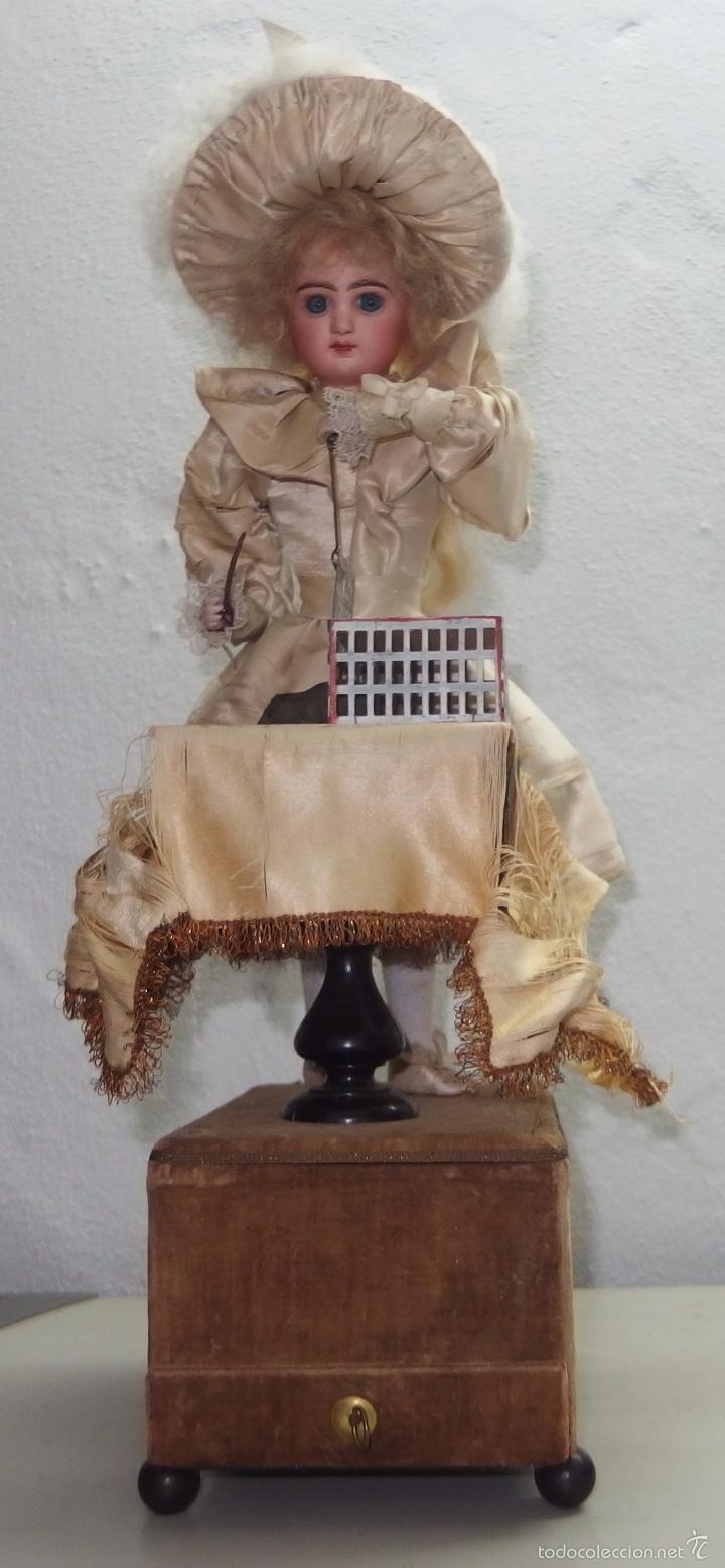 AUTÓMATA DE L.MARIE RENOU,CABEZA BEBE MASCOTTE,FRANCE,FUNCIONANDO,FABRICADO EN 1890 (Juguetes - Muñeca Extranjera Antigua - Porcelana Francesa)