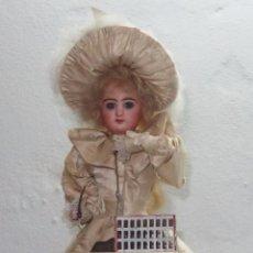 Muñecas Porcelana: AUTÓMATA DE L.MARIE RENOU,CABEZA BEBE MASCOTTE,FRANCE,FUNCIONANDO,FABRICADO EN 1890. Lote 61099767