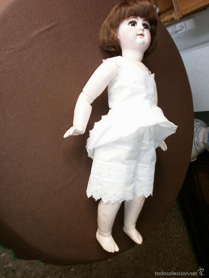 Muñecas Porcelana: Muñeca porcelana R. 4. D. RABERY & DELPHIEU 1890, de 72 ctms.Y BOCA CERRADA - Foto 6 - 61300947