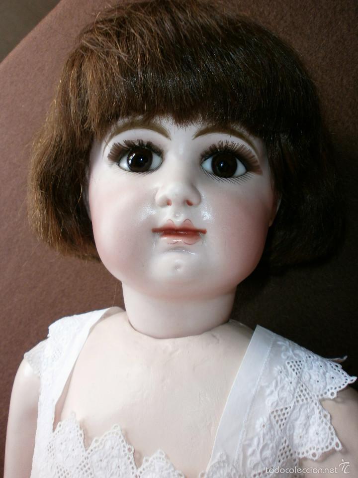 Muñecas Porcelana: Muñeca porcelana R. 4. D. RABERY & DELPHIEU 1890, de 72 ctms.Y BOCA CERRADA - Foto 10 - 61300947