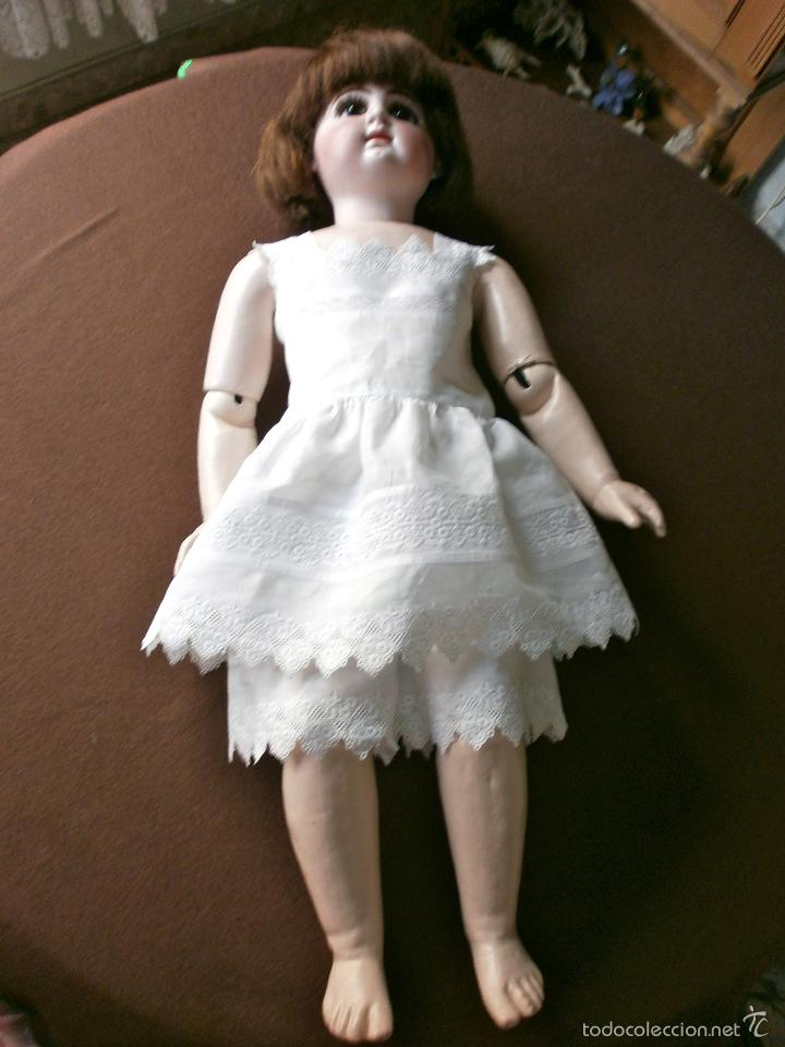 Muñecas Porcelana: Muñeca porcelana R. 4. D. RABERY & DELPHIEU 1890, de 72 ctms.Y BOCA CERRADA - Foto 15 - 61300947