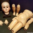 Muñecas Porcelana: MAGNÍFICA MUÑECA JUMEAU. MARCAS DEP 13. CABEZA DE BISCUIT Y CUERPO COMPLETO. PESTAÑAS NATURALES.. Lote 62789072