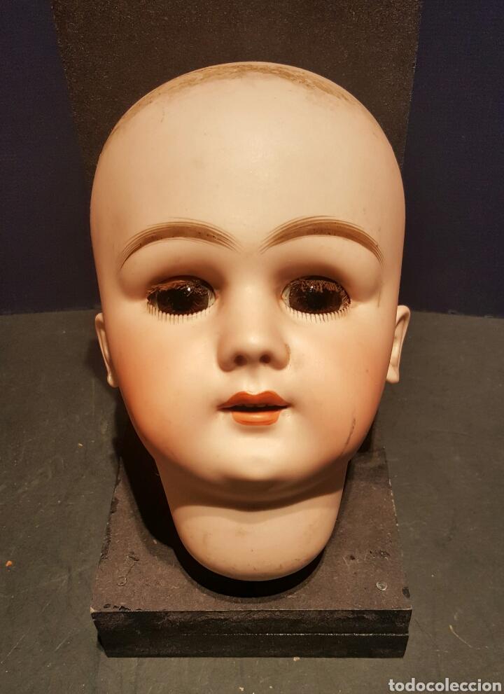 Muñecas Porcelana: Magnífica muñeca Jumeau. Marcas DEP 13. Cabeza de biscuit y cuerpo completo. Pestañas naturales. - Foto 2 - 62789072