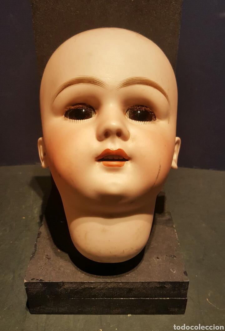 Muñecas Porcelana: Magnífica muñeca Jumeau. Marcas DEP 13. Cabeza de biscuit y cuerpo completo. Pestañas naturales. - Foto 3 - 62789072