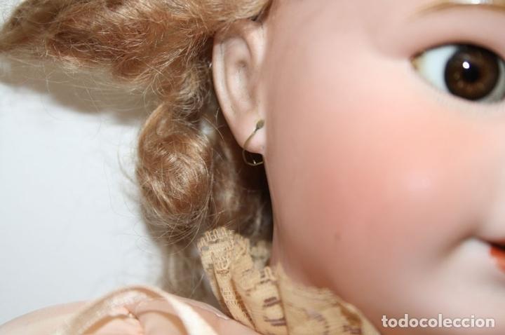 Muñecas Porcelana: MU133 MUÑECA JUMEAU. BOCA ABIERTA. CUERPO MADERA. 60 CM. PRINCIPIOS SIGLO XX - Foto 4 - 45149921