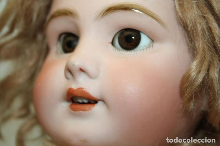 Muñecas Porcelana: MU133 MUÑECA JUMEAU. BOCA ABIERTA. CUERPO MADERA. 60 CM. PRINCIPIOS SIGLO XX - Foto 6 - 45149921