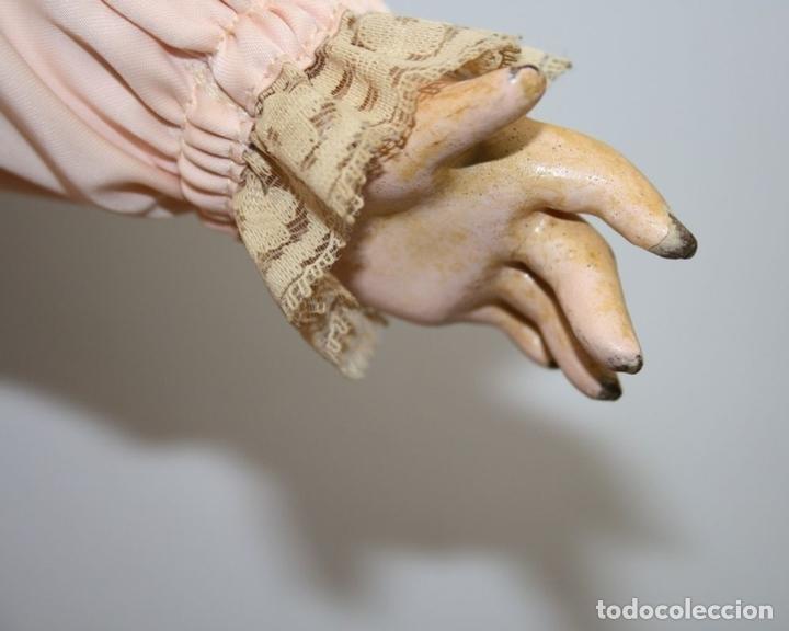 Muñecas Porcelana: MU133 MUÑECA JUMEAU. BOCA ABIERTA. CUERPO MADERA. 60 CM. PRINCIPIOS SIGLO XX - Foto 8 - 45149921