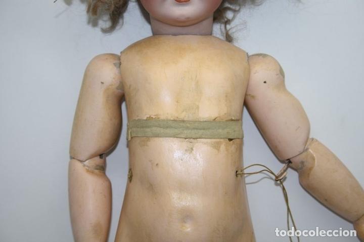Muñecas Porcelana: MU133 MUÑECA JUMEAU. BOCA ABIERTA. CUERPO MADERA. 60 CM. PRINCIPIOS SIGLO XX - Foto 21 - 45149921