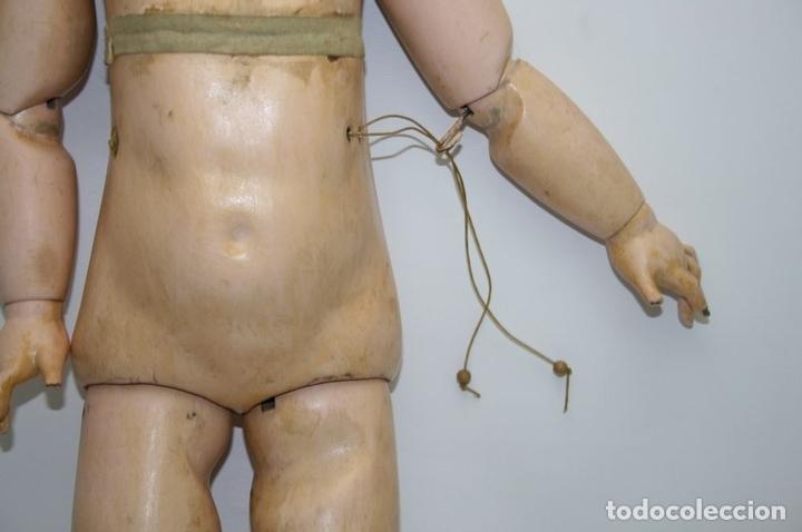 Muñecas Porcelana: MU133 MUÑECA JUMEAU. BOCA ABIERTA. CUERPO MADERA. 60 CM. PRINCIPIOS SIGLO XX - Foto 22 - 45149921
