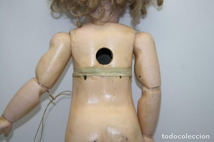 Muñecas Porcelana: MU133 MUÑECA JUMEAU. BOCA ABIERTA. CUERPO MADERA. 60 CM. PRINCIPIOS SIGLO XX - Foto 29 - 45149921