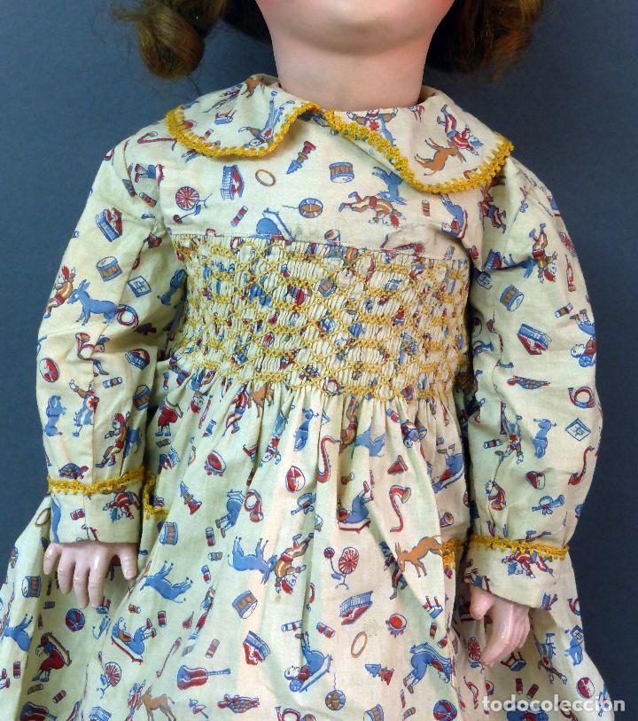 Muñecas Porcelana: Muñeca francesa cabeza porcelana París marca 301 12 cuerpo madera articulada 70 cm alto - Foto 3 - 67298941
