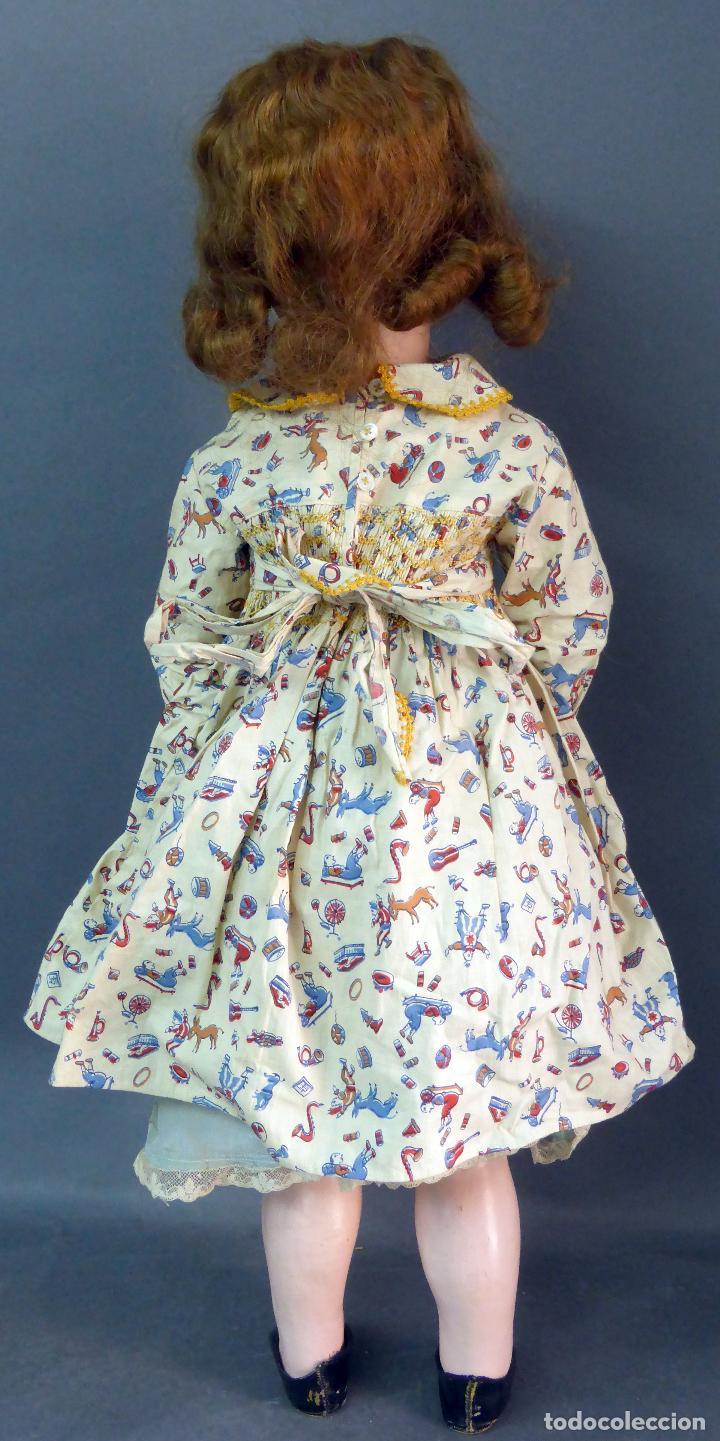 Muñecas Porcelana: Muñeca francesa cabeza porcelana París marca 301 12 cuerpo madera articulada 70 cm alto - Foto 6 - 67298941