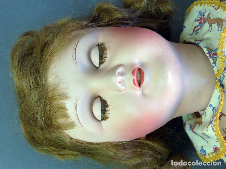 Muñecas Porcelana: Muñeca francesa cabeza porcelana París marca 301 12 cuerpo madera articulada 70 cm alto - Foto 8 - 67298941
