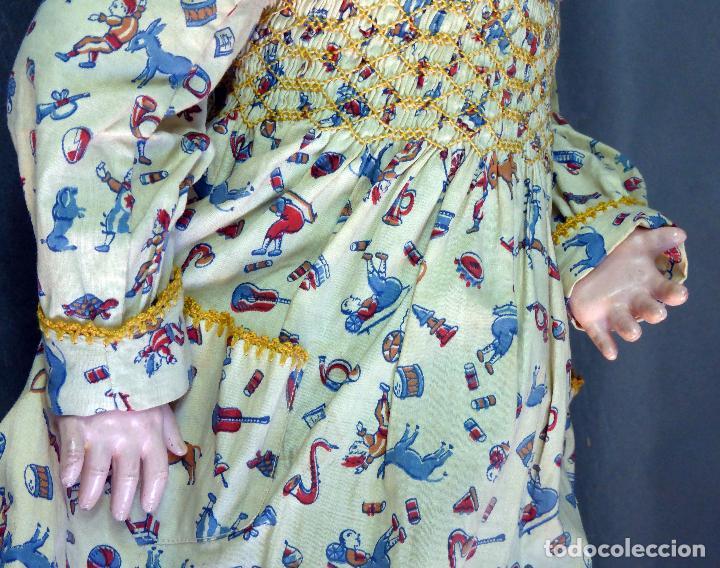 Muñecas Porcelana: Muñeca francesa cabeza porcelana París marca 301 12 cuerpo madera articulada 70 cm alto - Foto 11 - 67298941