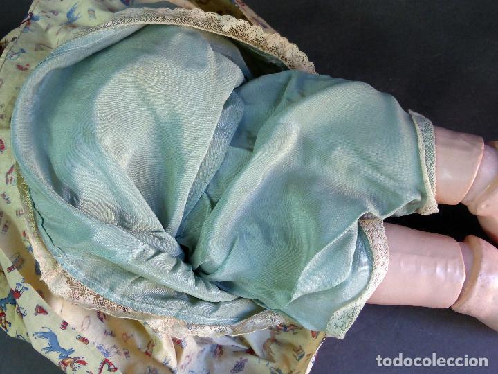 Muñecas Porcelana: Muñeca francesa cabeza porcelana París marca 301 12 cuerpo madera articulada 70 cm alto - Foto 13 - 67298941