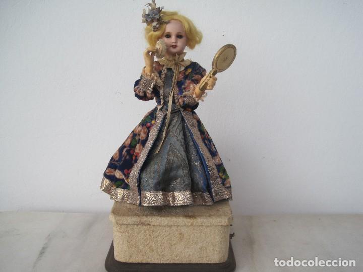 Muñecas Porcelana: AUTÓMATA JUMEAU UNISFRANCE, LA MUÑECA 35 CM. CON LA CAJA DE MÚSICA 46 CM. - Foto 2 - 68466885