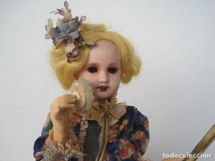 Muñecas Porcelana: AUTÓMATA JUMEAU UNISFRANCE, LA MUÑECA 35 CM. CON LA CAJA DE MÚSICA 46 CM. - Foto 3 - 68466885