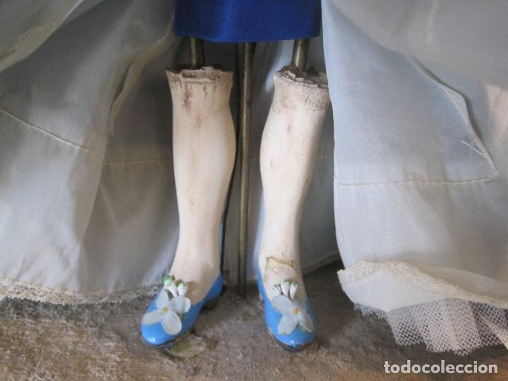 Muñecas Porcelana: AUTÓMATA JUMEAU UNISFRANCE, LA MUÑECA 35 CM. CON LA CAJA DE MÚSICA 46 CM. - Foto 5 - 68466885
