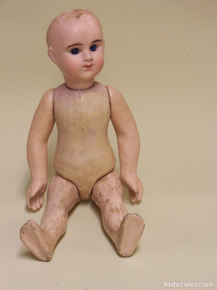Muñecas Porcelana: Muñeca francesa Etienne Denamur. 1889. Cabeza de porcelana con boquita cerrada, cuerpo de cartón - Foto 4 - 76022483