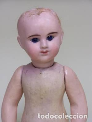 Muñecas Porcelana: Muñeca francesa Etienne Denamur. 1889. Cabeza de porcelana con boquita cerrada, cuerpo de cartón - Foto 5 - 76022483