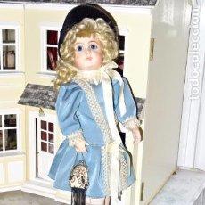 Muñecas Porcelana: PRECIOSA MUÑECA AUTÓMATA MUSICAL MECÁNICA DE PORCELANA TETE JUMEAU - REPRODUCCIÓN . Lote 83284708